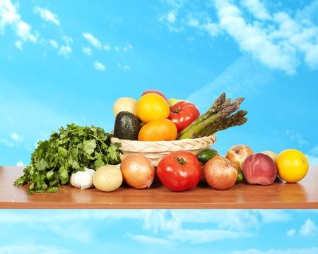 Set of vegetables.