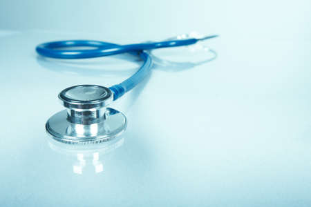 Medical stethoscope. Health care service concept background.