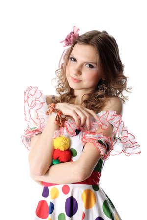 Teen girl in party dress