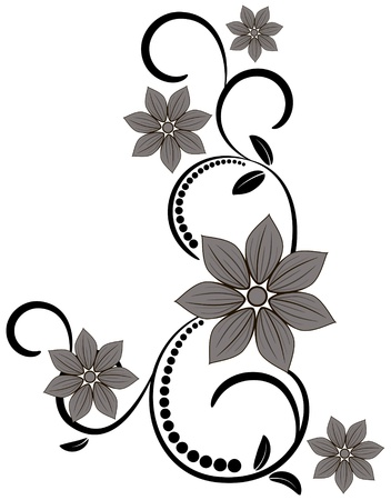 Ornament vintage floral design
