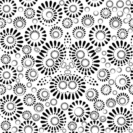 Geometrical blackly white seamless pattern, EPS8 - vector graphics.