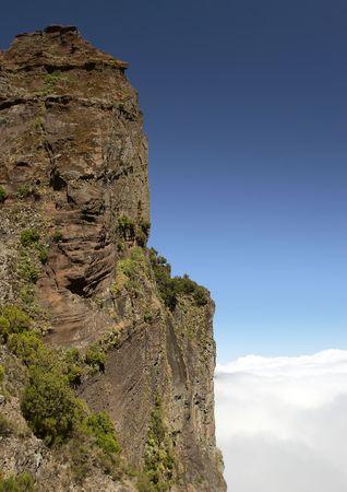 mountain for rock-climbing in Madeira