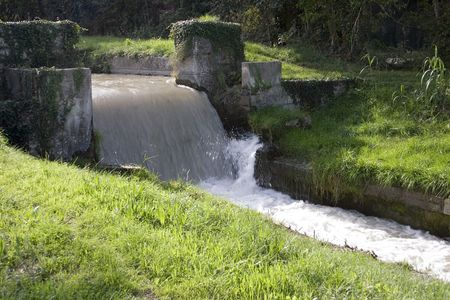One of many canals supplying water in the Bouche-de-Rhone area of France