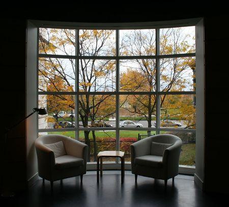 Autumn through Window  (far of the window)