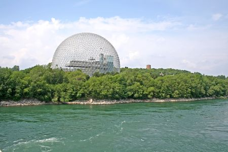 The Biosphere, old house of the United States has the expo 67 in Montreal