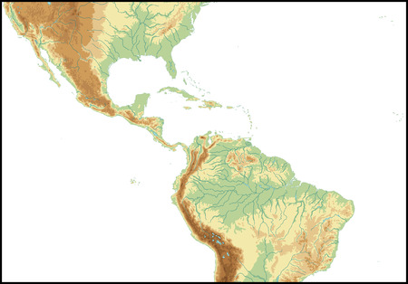 Relief Of Central America.
