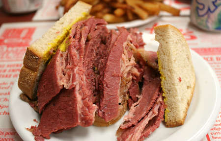 Montreal Smoked meat: Hebrew Delicatessen. It is a emblematic city's cuisine.
