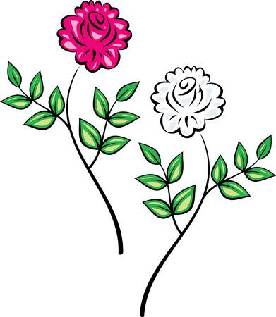 Original Vector Floral Ornament (Roses)