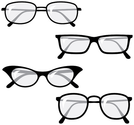 Eyeglasses – Vector illustrations