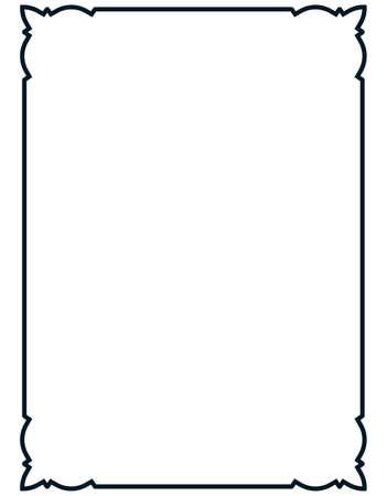 Frame vector vintage. Menu page elegant border.