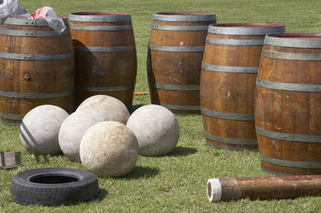 Highland games equipment for stones and caber