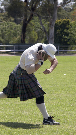 Scottish Highland games - the shot put