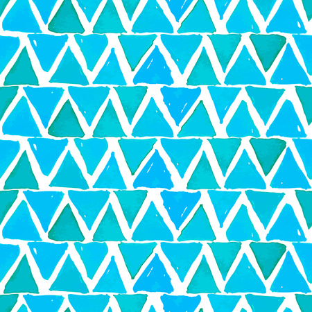 Turquoise Watercolor Triangles