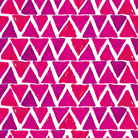 Bright Pink And Magenta Watercolor Triangles