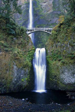 Majestic Multnomah Falls is located in northwest Oregon.