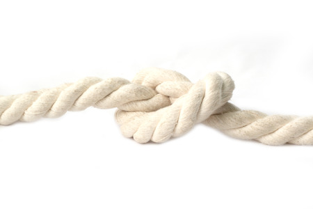 node of rope isolated on white background