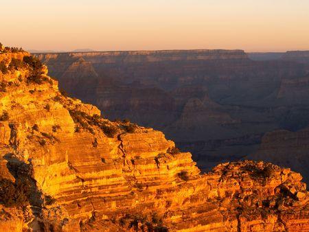 The Grand Canyon Lighting Up Rocks
