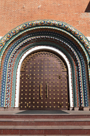 Entrance Assumption Cathedral gate in Yaroslavl, Russia