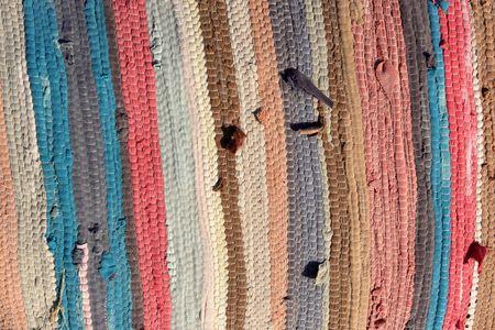 The striped woollen bedspread as background, Egypt