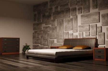 bedroom interior 3d render