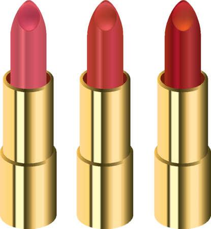 Three different lipsticks