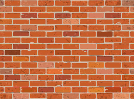 Seamless Grunge Brick Wall Texture  Vector Illustration