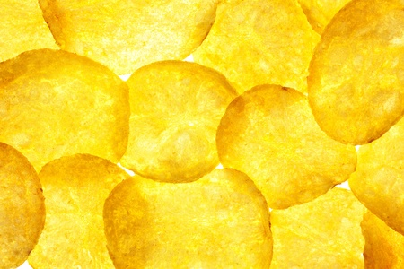 Potato Chips Background   Crisps   Macro   Back-lit