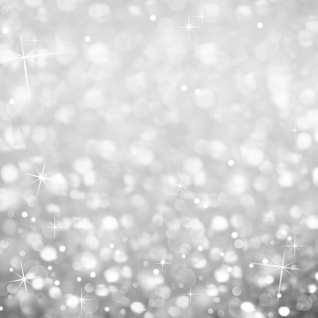 Silver Glittering Abstract Background - magic light and Stars Sparkles