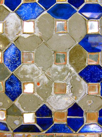 Decorative tiles at a Thai temple
