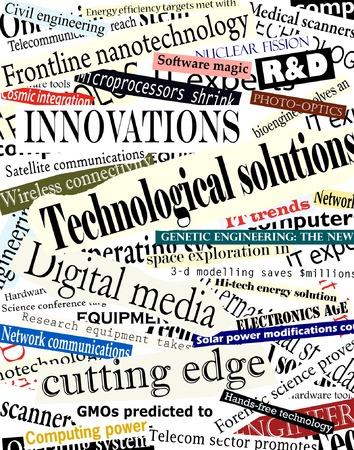 Background editable vector illustration of technological headlines