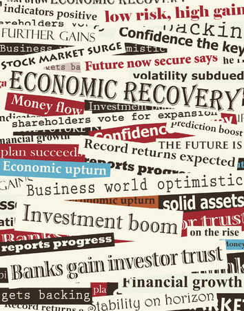 Background editable  design of newspaper headlines about economic recovery