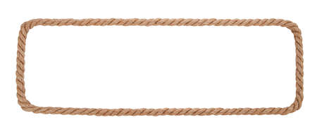 Rope border isolated on white background.