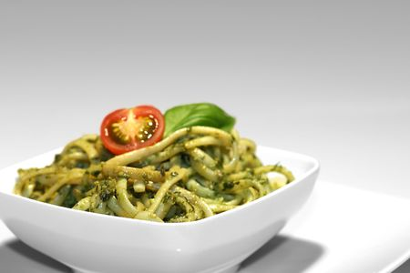 Noodles with pesto