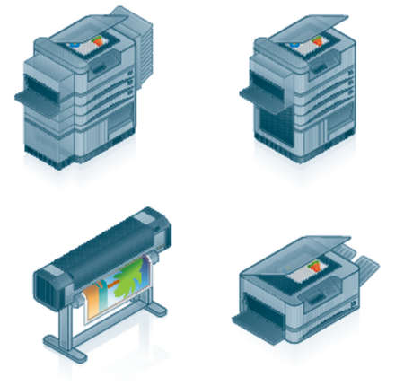 Computer Hardware Icons Set - Design Elements 55p, it's specially designed with a web designers in mind to achieve PIN SHARP ICONS ON A SCREEN
