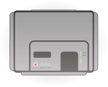 Color Photo InkJet Printer Top View