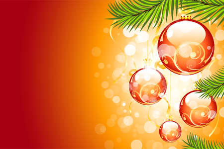 Christmas background with sparkles and Christmas balls for your design