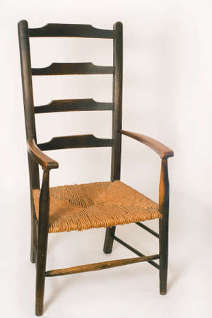 Cane seated ladderback chair, rather old but comfortable