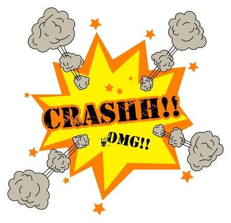 Illustration pour Comic book explosion - image libre de droit