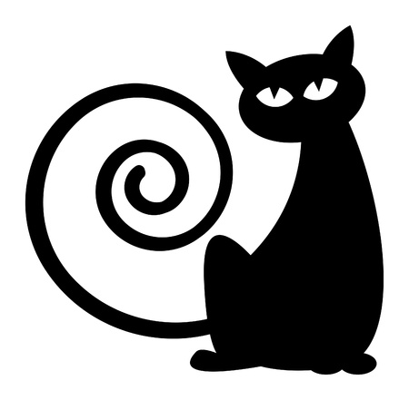 Illustration for Cat silhouette - Royalty Free Image