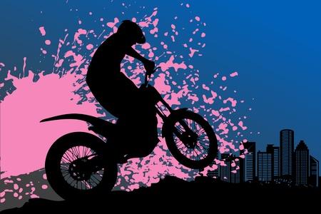 Illustration pour Motocross background - image libre de droit