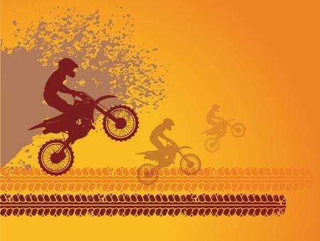 Illustration pour Motocross race background - image libre de droit