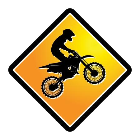 Illustration pour Motocross sign - image libre de droit