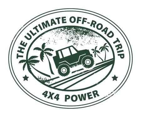 Illustration pour Off-road abstract sticker - image libre de droit