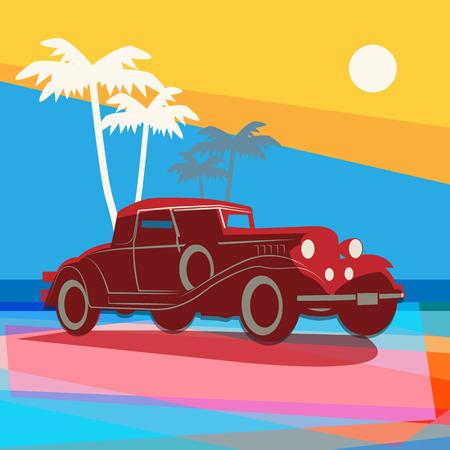 Vintage retro car background