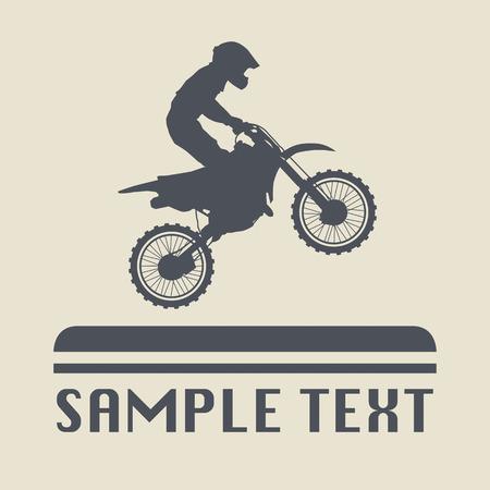 Illustration pour Motocross icon or sign - image libre de droit