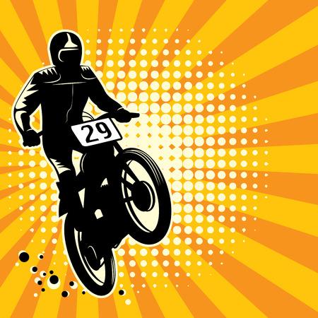 Illustration pour Abstract motocross background - image libre de droit