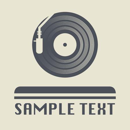 Illustration pour Turntable icon or sign, vector illustration - image libre de droit