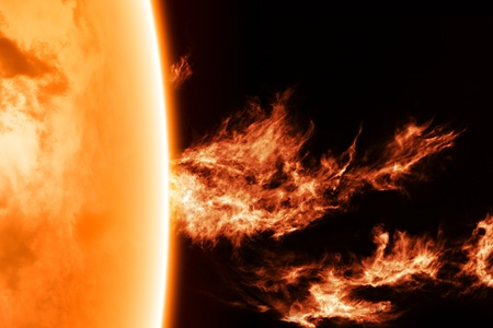 Science background - solar activity in space