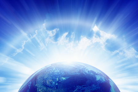 Abstract earth bright shines background