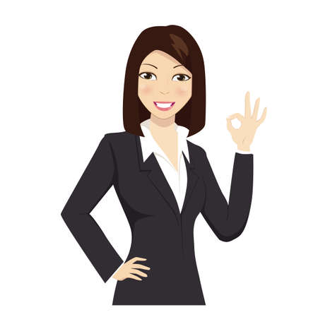 Gestures for business woman